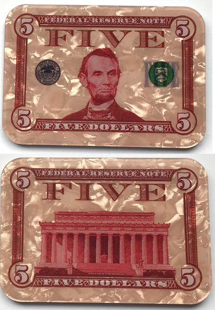 $5 Abraham Lincoln Poker Plaque