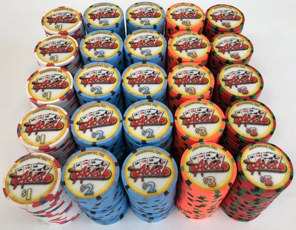 Aces Casino Paulson Poker Chips