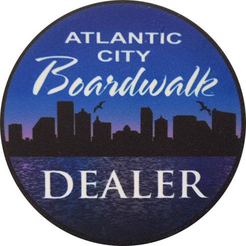 Atlantic City Boardwalk Poker Dealer Button