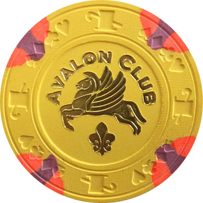 Avalon Club Paulson Poker Chip