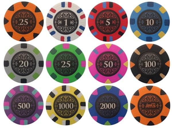 Bank 18xx Poker Chip Sample Set
