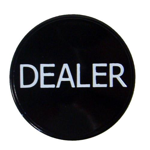 Black Dealer Button