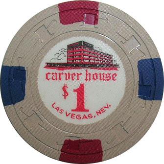 Carver House $1 Las Vegas Casino Chip