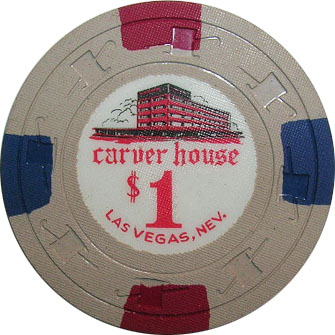 Carver House $1 Las Vegas Casino Chip