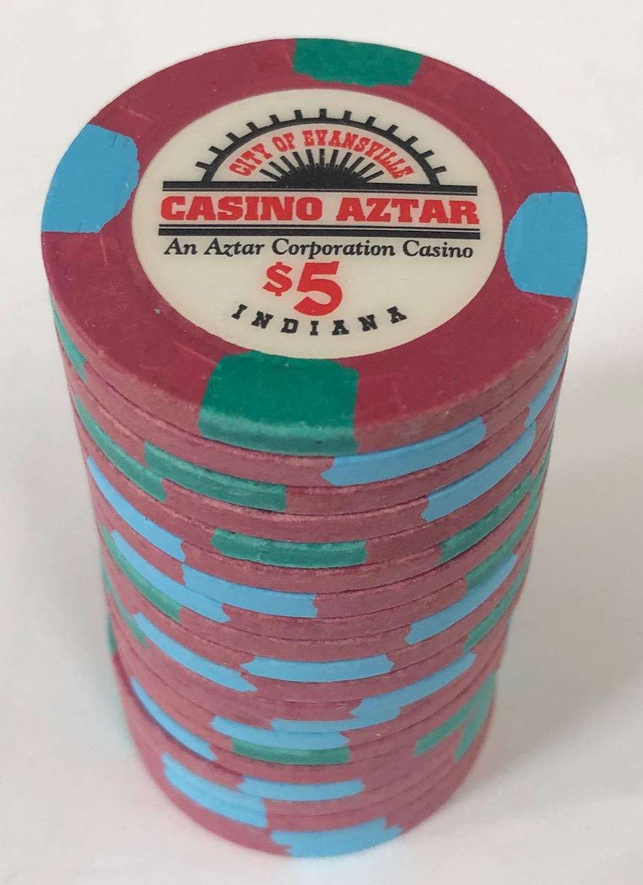 Casino Aztar $5 Paulson Poker Chips