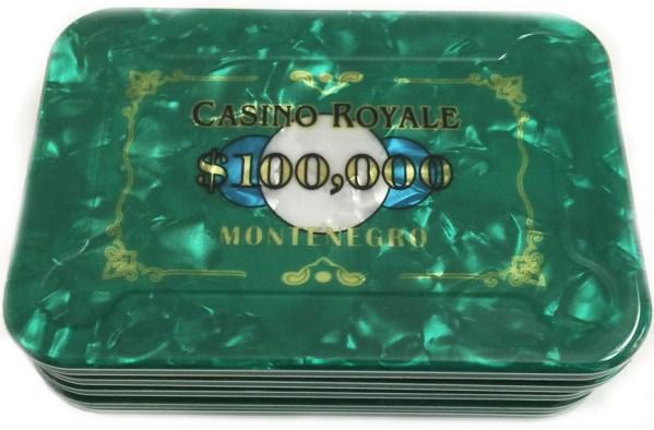 $100,000 Casino Royale James Bond Poker Plaque