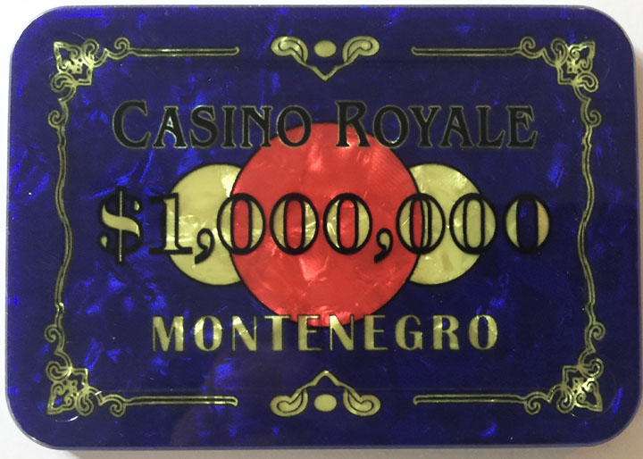Casino Royale $1,000,000 James Bond Poker Plaque