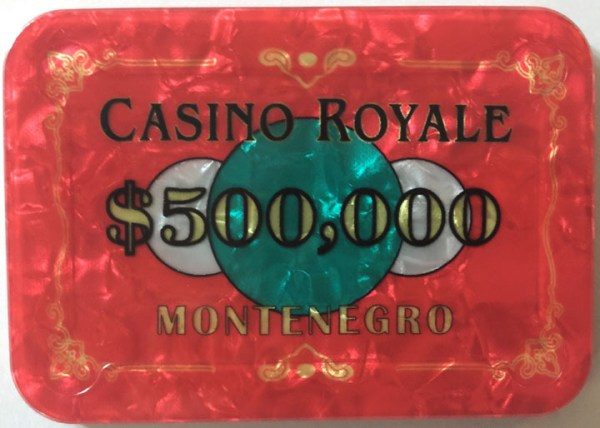 Casino Royale $500,000 James Bond Poker Plaque
