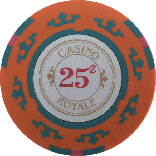 $.25 Casino Royale Poker Chip