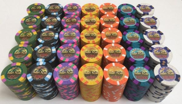 Desert Palms Poker Chips