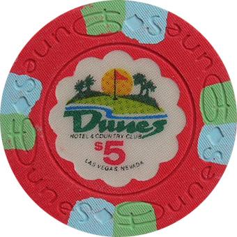 Dunes $5 Las Vegas Casino Chip