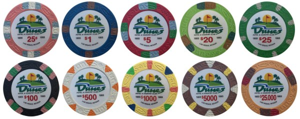 Dunes Casino Clay Poker Chip Set