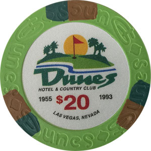 Dunes Casino $20 Poker Chip