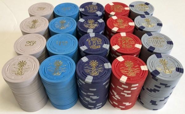 El Rancho Vegas Casino TR King Poker Chip Set