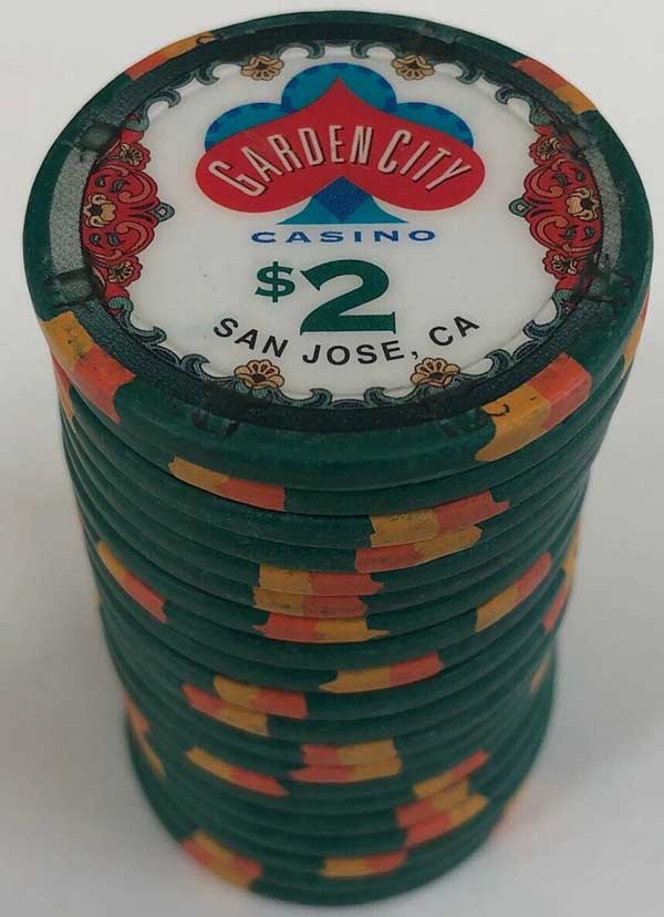 Garden City $2 Casino Chips