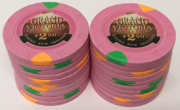 Grand Victoria $2.50 Paulson Casino Chips