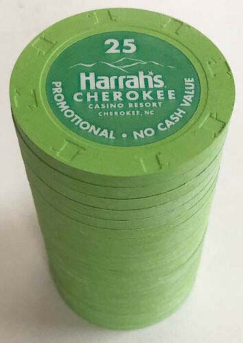 Harrah's Cherokee $25 Casino Chips