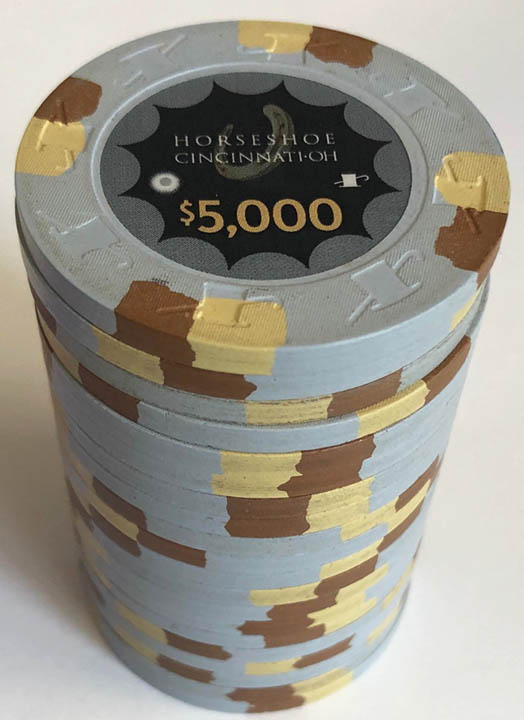 $5000 HORSESHOE CASINO INDIANA PAULSON POKER CHIP