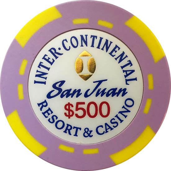 InterContinental Casino Bud Jones 500 Poker Chip Set