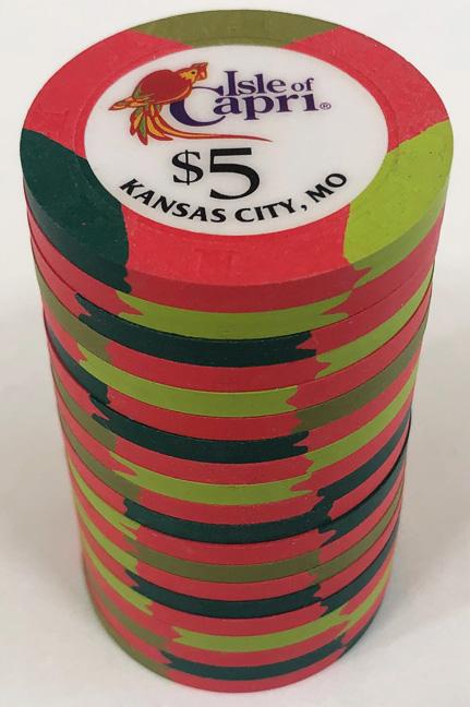 $5 Isle of Capri Casino Paulson Poker Chips