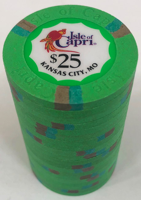 $25 Isle of Capri Casino Paulson Poker Chips