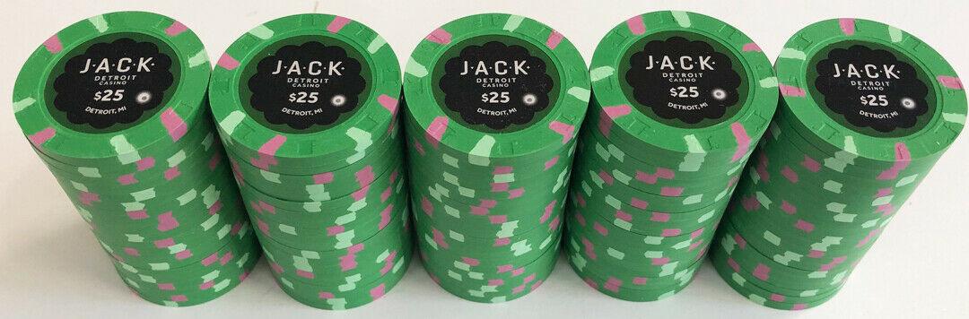 Rack of Jack $25 Casino Chips