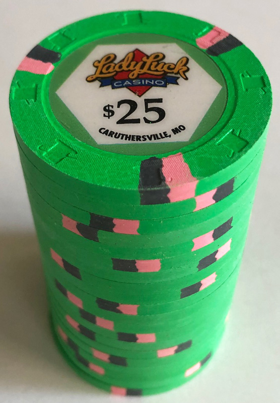 $25 Lady Luck Casino Paulson Poker Chips