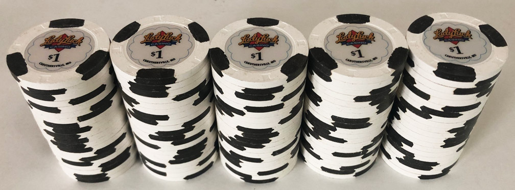 $1 Lady Luck Paulson Casino Chips