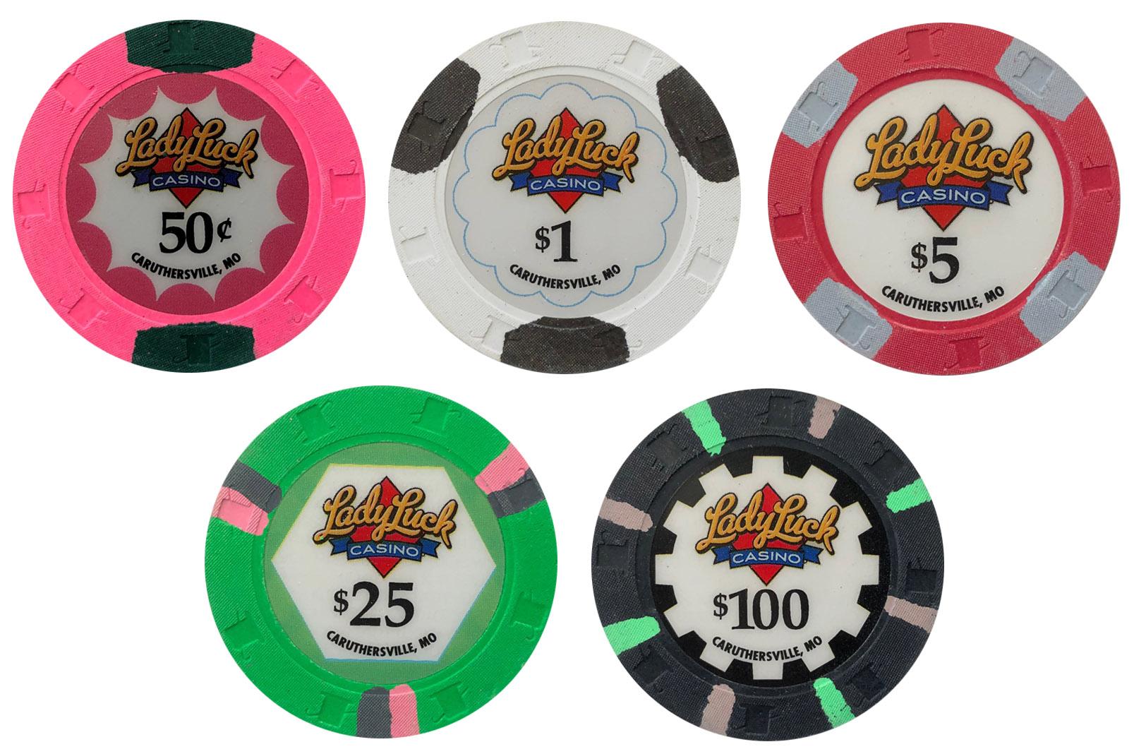Lady Luck Casino Paulson Sample Chips