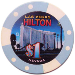 Las Vegas Hilton Bud Jones Casino Chip