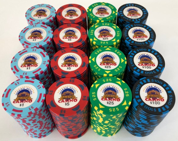 Legends Casino Bud Jones Poker Chips