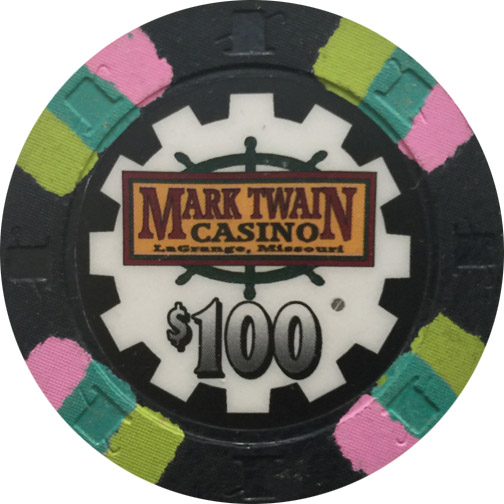 Mark Twain $100 Paulson Poker Chip