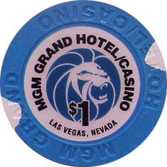 $1 MGM Las Vegas Casino Chip