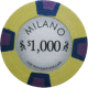 Milano Poker Chips - $1000 Milanos chips