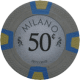 Milano Poker Chips - 50¢ Milanos chips