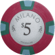 Milano Poker Chips - $5 Milanos chips