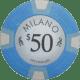 Milano Poker Chips - $50 Milanos chips