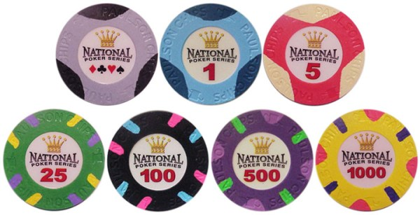 Paulson National Poker Series Chips