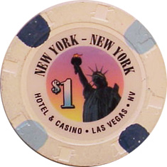 New York New York $1 Casino Chip