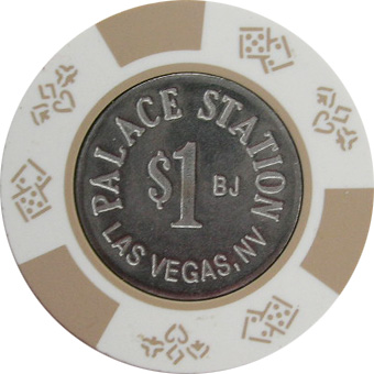 Palace Station Bud Jones $1 Las Vegas Casino Chip