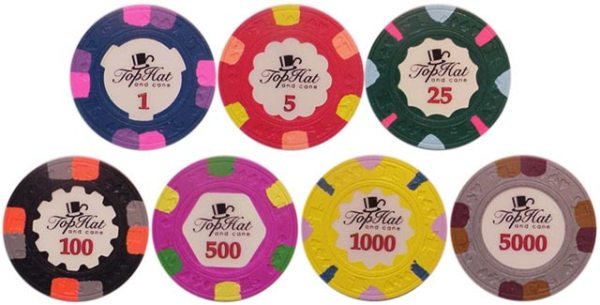 Paulson Top Hat And Cane Poker Chips