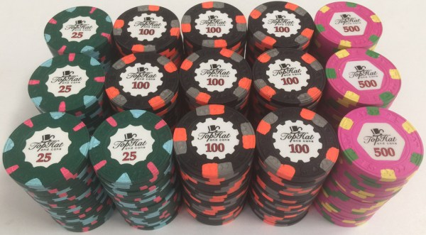 Paulson Top Hat & Cane Poker Chip Set
