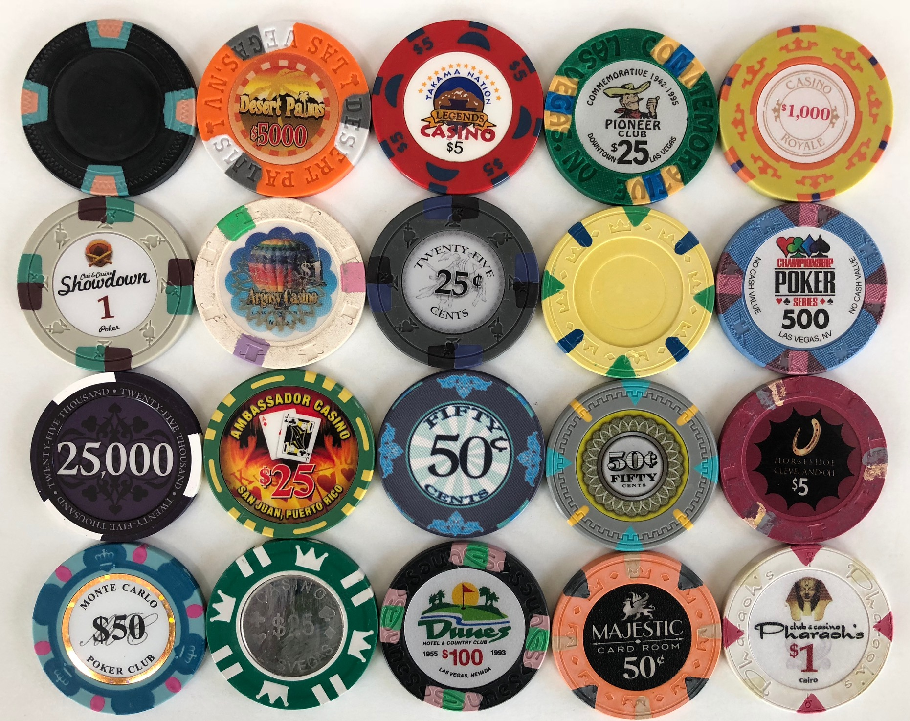 Super Poker Chips Sample Set
