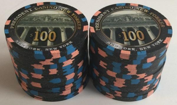 $100 President New Yorker Paulson Casino Chips