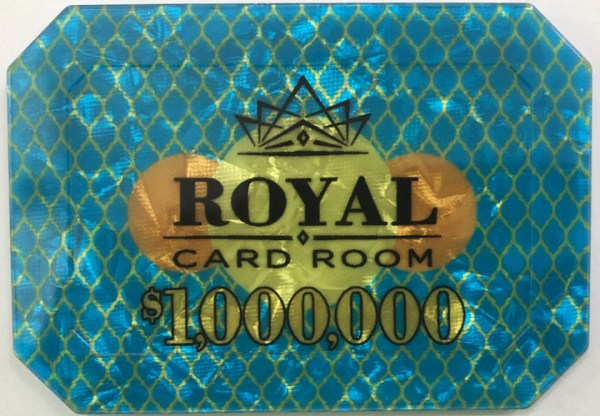 $1,000,000 Royal Poker Plaque
