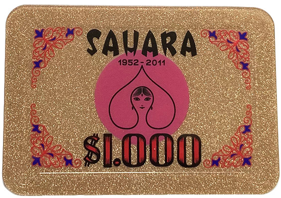 Sahara Casino Poker Plaque