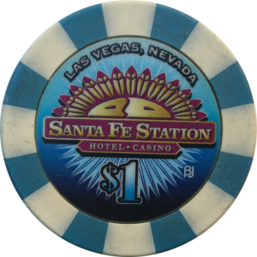 Santa Fe Station $1 Las Vegas Casino Chip
