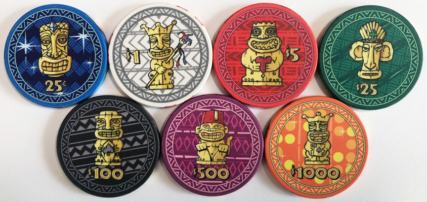 Tiki Kings Ceramic Poker Chips