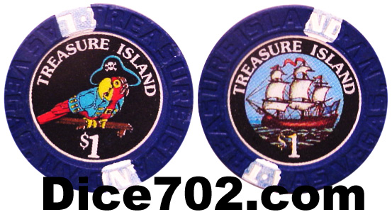 Treasure Island Las Vegas Casino Chip