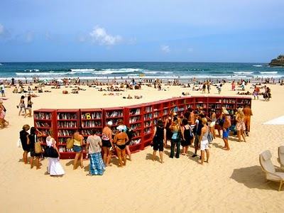 libros en la playa